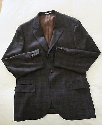 Brunello Cucinelli 100% Wool  Full Suit Eu58 in charcoal grey color 48 US