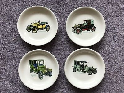 4x Vintage Collectable Barmouth Welsh Pottery China Dish Cars