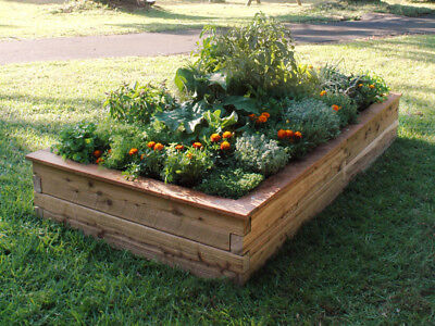 Timber Raised Garden Bed Benedetto 1050mm x 2050mm