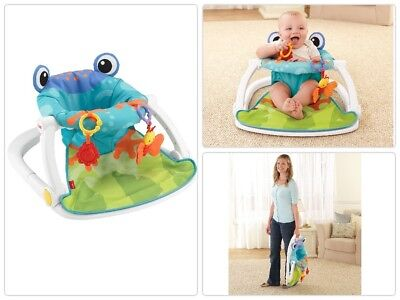 New Baby Chair Fisher Price Sit Me Up Floor Froggy Seat Soft Comfort With  Toys