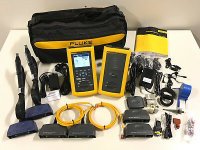 Fluke DSP-4000 networks LIA101 PL LAN Kabel CAT 5 E 6 Analyzer Tester Prüfer Set