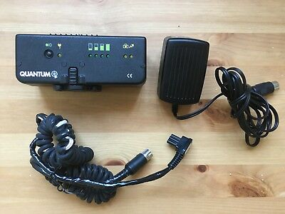 Quantum Turbo AC Battery w/Charger for Flash Photography with Nikon Cable