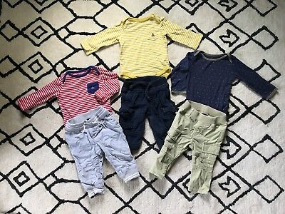 Spring Baby Gap Boy Lot of 3 Bodysuits And 3 Pants Size 6-12 months