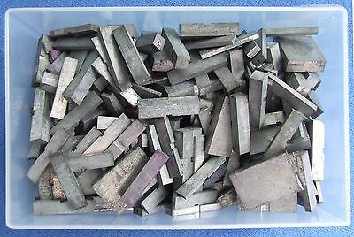 Adana Letterpress Printing 500g of 12pt Quads & Spacers in a business card box