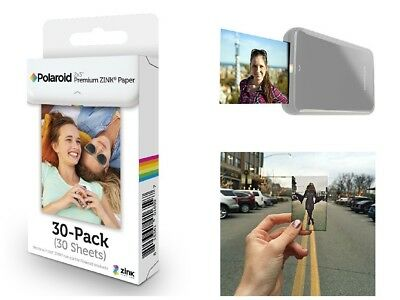 30 Sheets Premium ZINK Photo Paper Polaroid 2x3 inch Film Snap Touch Refill New