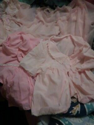 Vintage Late 1950s/Early 1960s Pink Lacey PJ Top Lot Nylon  Size ( Small Women)