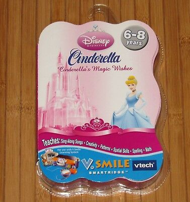 VTECH V SMILE DISNEY Cinderella Cinderellas Magic Wishes Cartridge Age 6-8