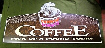 Dunkin' Donuts Coffee Original Advertising Sign Header Panel New in Box