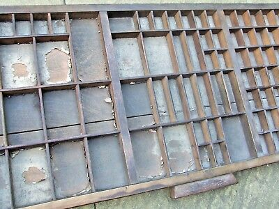 Letterpress Printing VERY OLD WOODEN TYPECASE With Split in Base Compositor Case