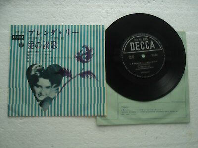 BRENDA LEE - If you love me - Rare JAPAN only release EP - with  P/S