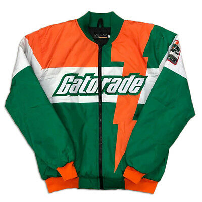 Brand New GATORADE White Satin Racing Jacket