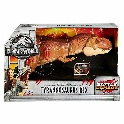 Jurassic World Battle Damage Roarin' Super Colossal Tyrannosaurus Rex Dinosaur