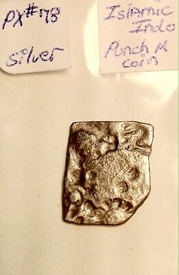 Ancient/Medieval Silver Square Indo Punch Coin/ Counter Stamped