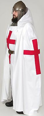 Tunic & Cape,Templar Crusader Medieval  Latin Cross, Knight Warrior In Stock