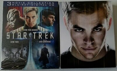 Star Trek Trilogy Collection Blu Ray 3 Discs + Slipcover Sleeve Free Shipping