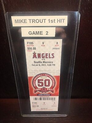 meet cb644 f9a00 Los Angeles Angels Of Anaheim Mike Trout Mlb First Hit Ticket