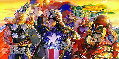 EXTRA LARGE MARVEL COMICS' THE AVENGERS Banner Photo/Poster IRON MAN Thor, MORE!