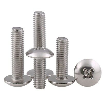 M5*10mm Truss Head Phillips Screws Machine Screws 304 A2-70 Stainless Steel