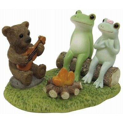 Copeau Frog Couple Bear Camp Campfire Mini Figure Figurine Cute Japan Animal