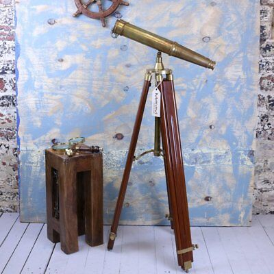 Mowai Vintage Binoculars on Tripod Nautical Ornament vintage Antique Repro