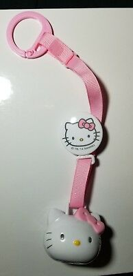 Hygienic Baby Pacifier Clip Leash Holder w/ Cover in Hello Kitty Brand New