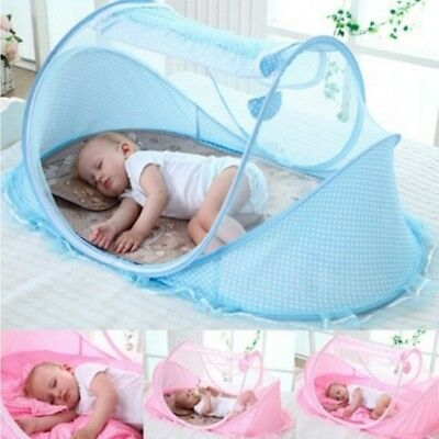 Baby Infant Portable Folding Travel Bed Crib Canopy Mosquito Net Tent Foldable
