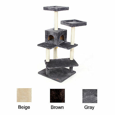 Pet Cat Scratching Post Tree Pole Gym Condo Activity House Furniture Play Toy
