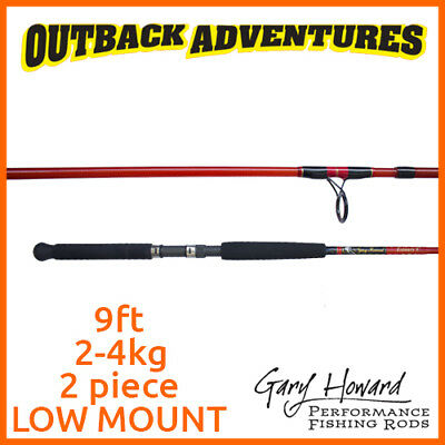 Gary Howard Estuary 9'ft Fishing Rod 2-4Kg 2 Piece Low Mount