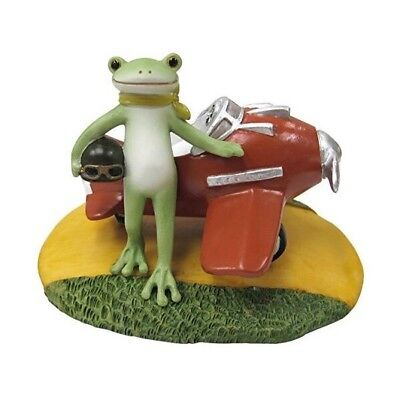 Copeau Frog Airplane Pilot Mini Resin Figure Figurine Ornament Cute Japan