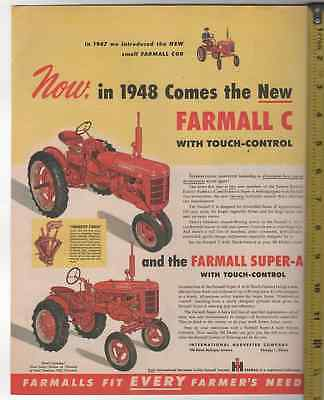 International Harvester Tractors 10 Ad Lot Crawlers Implements Advertisements
