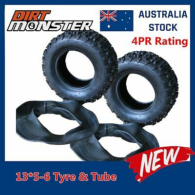 "2 set 13X5-6 Knobby Tyre/Tire Tube 6"" for Drift Kart Gokart  Mower atv quadbike"