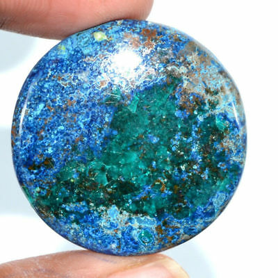 Cts. 80.65 Natural Azure Color Azurite Cabochon Round Cab Loose Gemstone