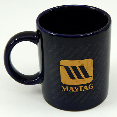 Maytag Vintage Coffee Mug Blue and Gold Coffee Cup