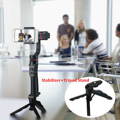 3-Axis Handheld Mobile Gimbal Stabilizer for Smartphone iPhone+Tripod Stand UK