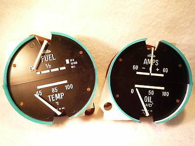 ROVER P6 JAEGER GAUGES AMMETER FUEL TEMP OIL PRESSURE p6b 2000 2200 3500 kit car