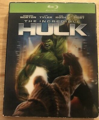 Marvel The Incredible Hulk Blu Ray + Rare Oop Lenticular Slipcover & Green Case
