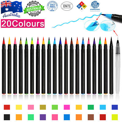 20-Colour Watercolor Brush Pens Set Painting Colorful Art Inspiration Innovating