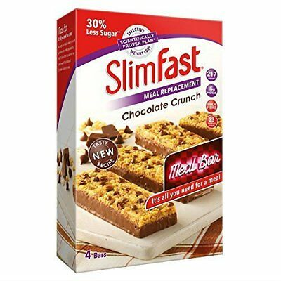Slimfast Meal Replacement Variety Bars Yoghurt fruit Crunch and Chocolate 4.NEW