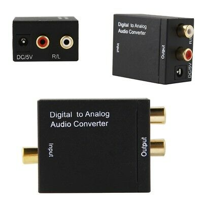Digital Optical Coax Coaxial Toslink to Analog Audio Converter Adapter RCA L/R