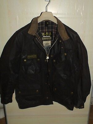 barbour international jacket waxed cotton  100%authentic c42/107 L
