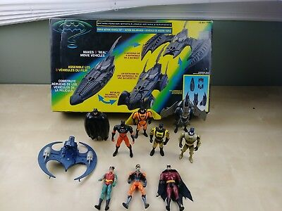 Batman Forever Triple Action Vehicle Set Kenner W/ Figurines  MISSING PARTS