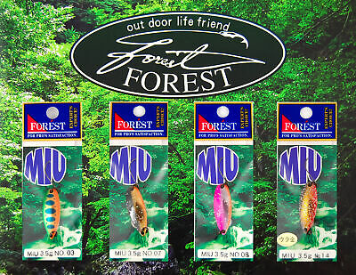 FOREST Miu Native 3,5 g - Forellenblinker Made in Japan - VanFook Haken