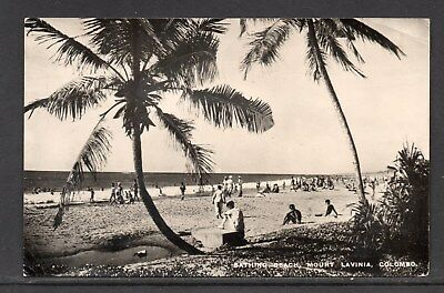 Bathing Beach Mount Lavinia Colombo Posted RP Card From Australia With 1d Due..