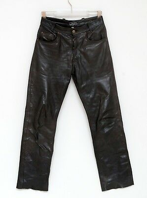 Size 29 M Medium Tschull Biker Trousers Pants Genuine Leather Motorcycle Vgc