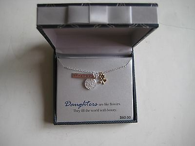 """Silver Expressions by LArocks For """"Daughters"""" Necklace with Charm $60"""