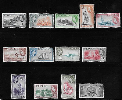 Barbados 235 - 247 VF MH Set of 13 Stamps