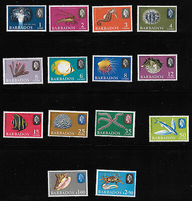 Barbados 267 - 280 VF MH Set of 14 Stamps