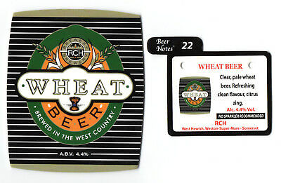 RCH Wheat Beer pump clip/badge. Closed brewery. Brewed in the West Country. 4.4%