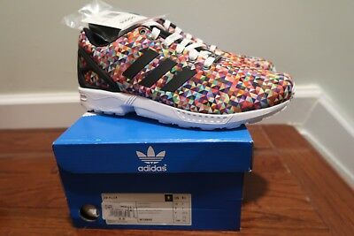 info for bf125 83dc8 Adidas Originals Zx Flux New Size 9.5 Multi Color Prism Rainbow M19845