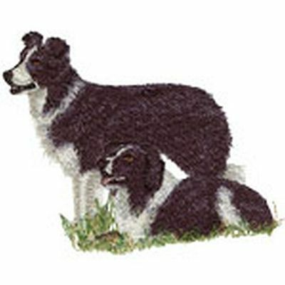 "Border Collie Dog Embroidered Patch Approx Size 4.3""x3.5"""
